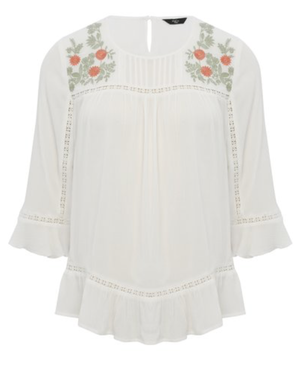 white peasant blouse