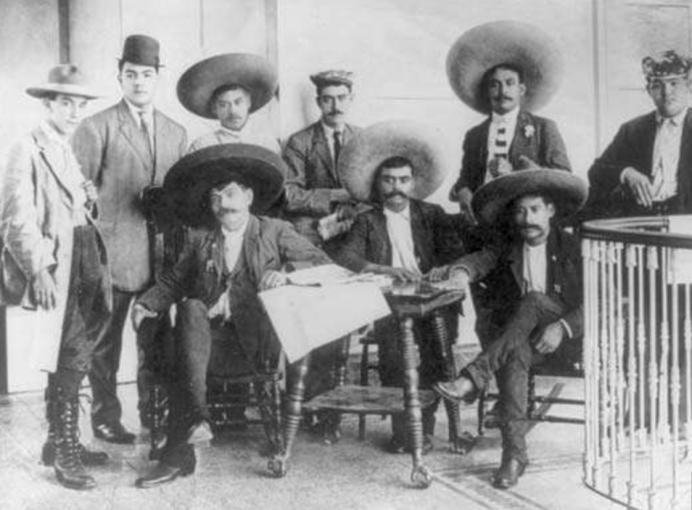 the Zapatistas with Emiliano Zapata at the Library of Congress Washington DC